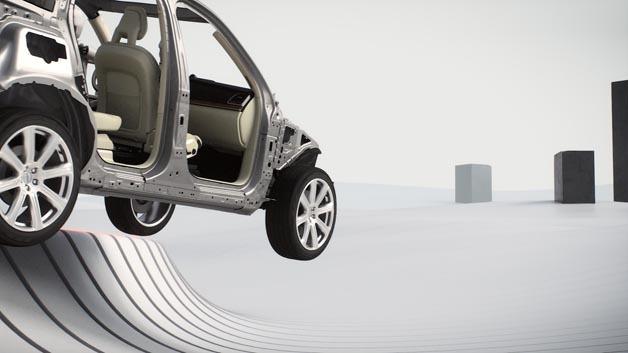 Das Run off Road Sicherheitssystem im neuen Volvo XC90 erkennt, wenn das Fahrzeug von der Fahrbahn abkommt.