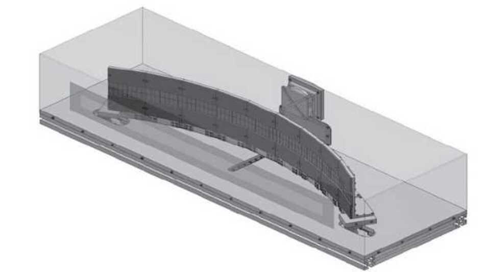 Der Röntgendetektor MULIX – konzipiert für den Einsatz in industriellen Computertomografiesystemen – bündelt die Vorteile von Zeilen- und Flächendetektoren in einer Hybridlösung und ist bogenförmig um das Prüfobjekt angeordnet