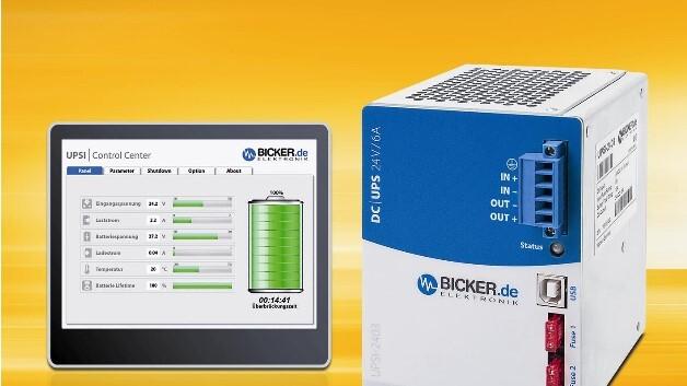 Bickers DC-USV UPSI-2403 für die Hutschiene überbrückt Stromausfälle von bis zu 33 min.