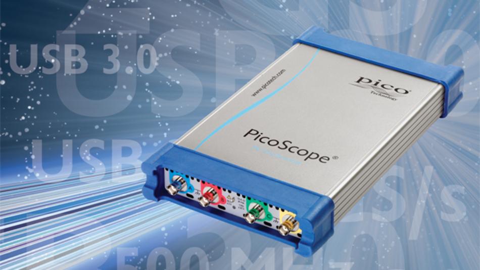 Die neue Software, zum Beispiel für das PicoScope 6000, ermöglich Update-Raten von über 100.000 Waveforms pro Sekunde.
