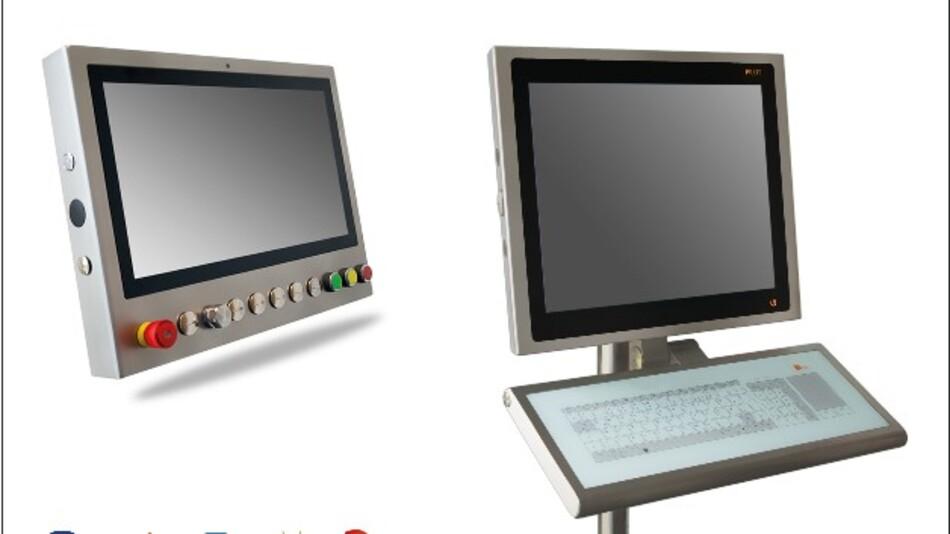 Den Reinraum adressieren die HMI-Systeme mit Diagonalen von 17,3 bis 55 Zoll von Systec&Solutions