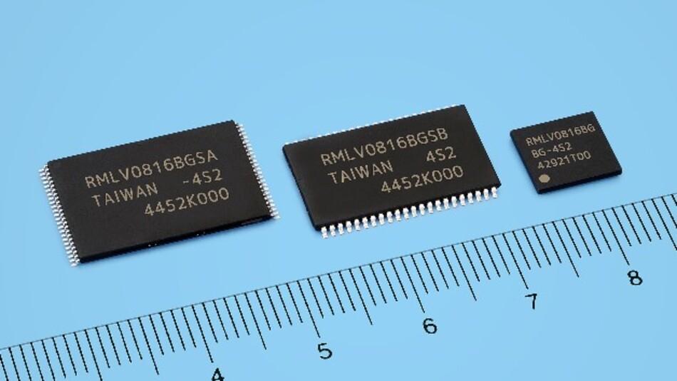 In 110-nm-Prozesstechnik fertigt Renesas die fünf extrem stromsparenden SRAM-Bausteine mit 8 MBit Speicherdichte.