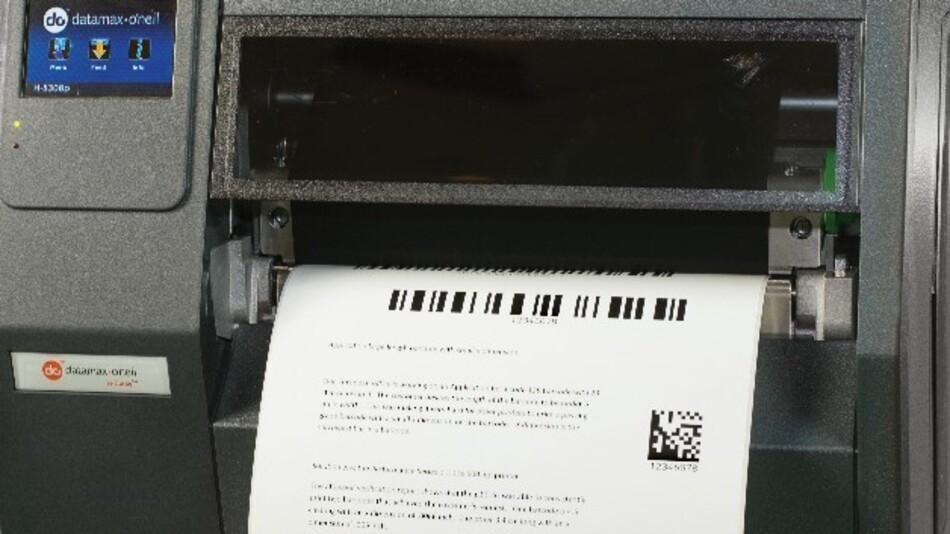 PCL5-/PCL6-kompatibel ist Datamax' 8-Zoll-Thermodrucker H-8308p, der Etiketten bis DIN A4 bedruckt.