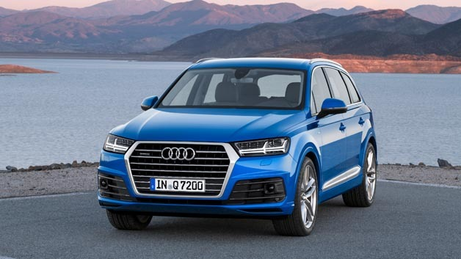 Audi stellt 2015 in Detroit den Q7 vor. Später wollt mit dem Q7 e-tron eine Hybridvariante.