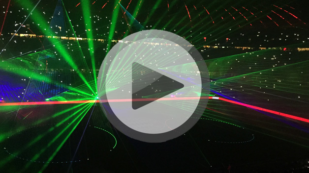 Philips Lasershow in der Allinaz Arena
