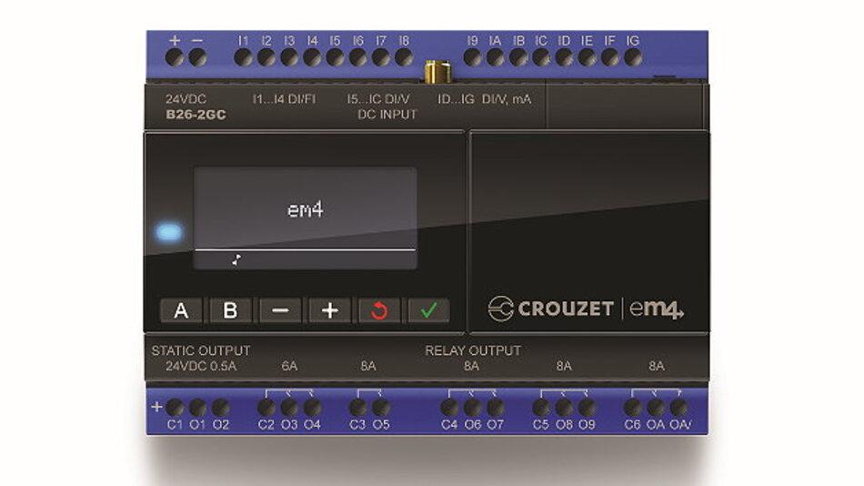 Kommunikativ: die Kompakt-SPS »em4« von Crouzet Automation