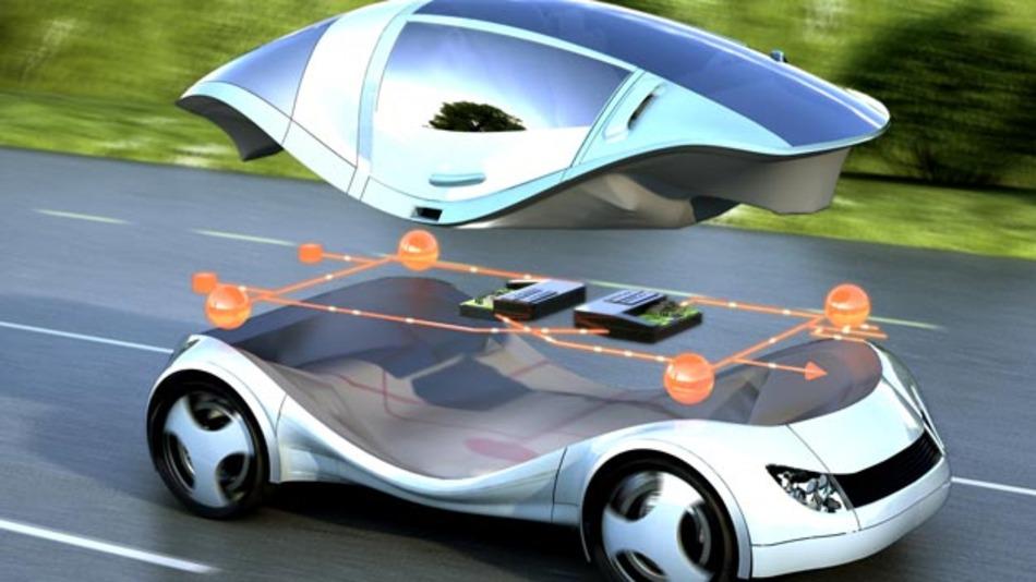 Die zunehmenden Software-Funktionen sind im Auto von morgen auf wenige Hardware-Komponenten verteilt. Die dafür notwendige Strukturierung der Software untersucht Siemens mit Partnern im Forschungsprojekt Race.