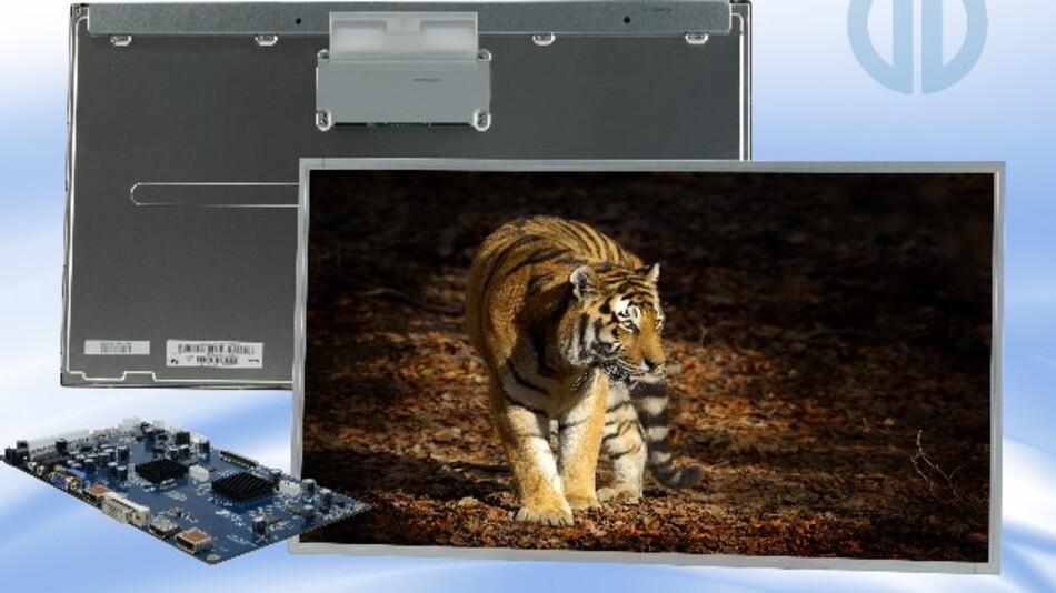 Im Kit mit Controller-Board und den Kabeln gibt es von Distec den 28-Zoll-4k-Monitor M280DGJ-L30 aus dem Hause Innolux.