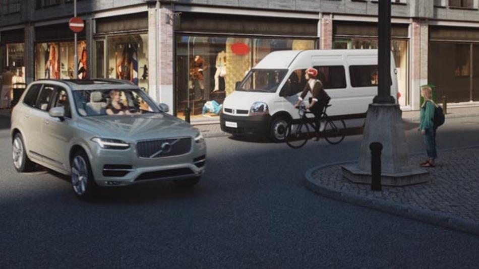 Volvo, POC und Ericsson, ein neues einzigartiges Sicherheitssystem, das Fahrrad- und Autofahrer zum ersten Mal miteinander vernetzt und Unfälle zukünftig verhindern kann.