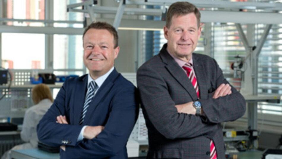 Ralph Müller (links) wird zum 1. Januar 2015 CEO der Schurter-Gruppe und löst damit Hans-Rudolf Schurter ab.