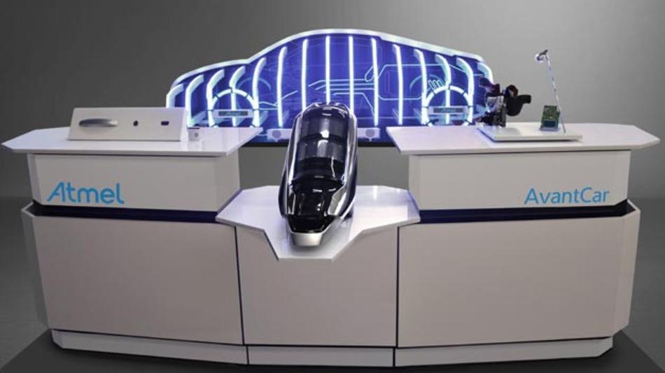 Das AvantCar 2.0 Konzept erlaubt die Demonstration von 2.5D im Automobil. Zu den Highlights gehören Fahrzeug-Zugriff, Auto-Vernetzung, MCUs, Audio-over-Ethernet und CryptoAuthentication sowie MHL Connectivity Technologien.