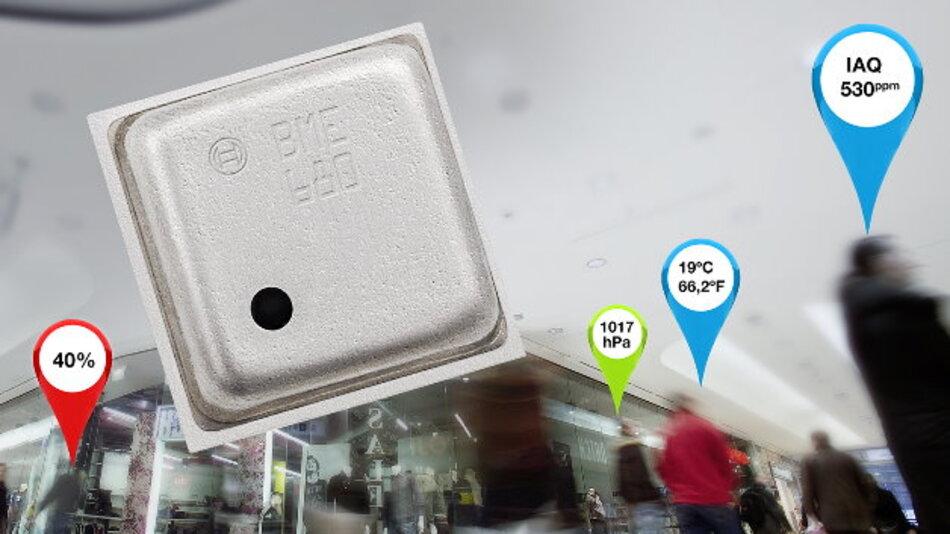 Die Kombination von vier verschiedenen Sensortypen in einem kleinen Gehäuse ermöglicht es, die Luftqualität schnell und präzise zu messen.
