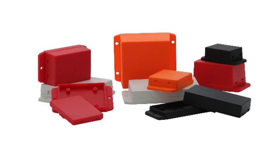 Mit Snap-in-Funktion erhältlich ist Wöhrs flexible Gehäusefamilie GH02KS016 aus ABS-Kunststoff.