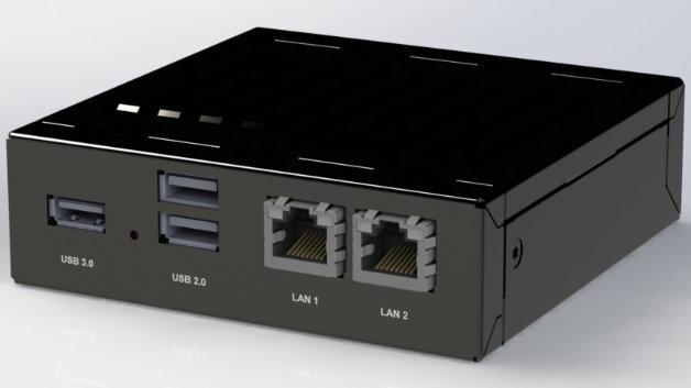 Erstes Design eines embedded-NUC-Geräts.