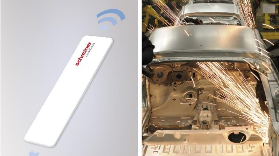 Eine große Lesereichweite gewährleisten die diversen RFID-Tags DistaFerr von Schreiner Protech gewährleisten auch auf metallischen Untergründen.