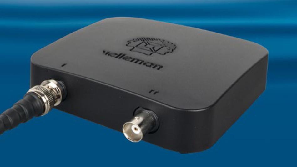 Das neue Digitalspeicheroszilloskop Velleman WFS210 kommt ohne Monitor und ohne Kabel für Stromversorgung und Kommunikation aus.