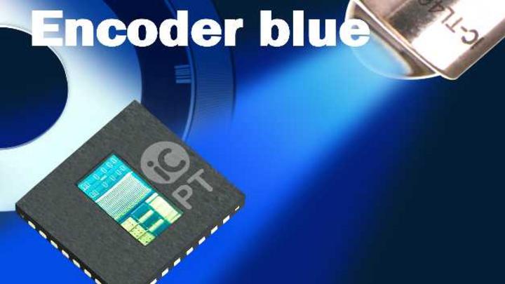 Neuartige Integrationsplattform für Single-Chip Encoder auf Basis einer blauen LED-Beleuchtung. Mit einem der kürzeren Wellenlänge angepassten speziellen Design werden wesentliche Eigenschaften wie etwa Auflösung, Signalamplitude, Klirrfaktor und Jit