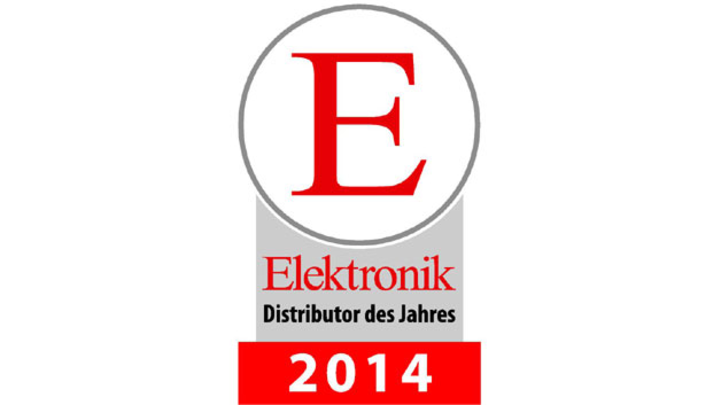 Logo Elektronik-Distributor des Jahres 2014