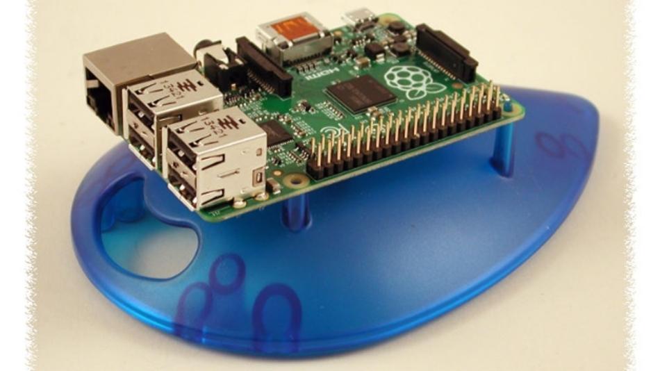 Die eiförmige Basis verleiht dem Raspberry Pi mechanische Stabilität