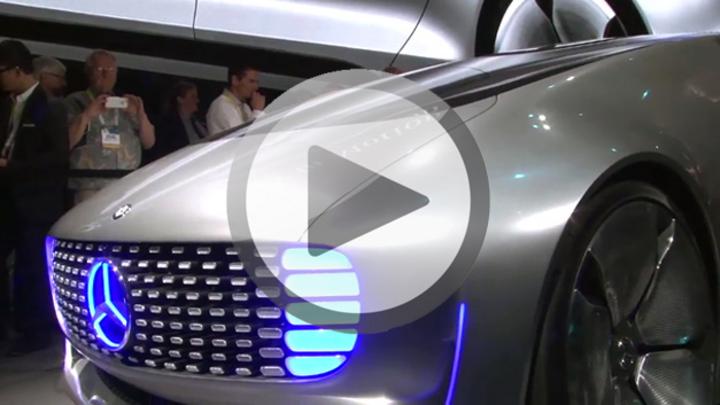 Videovorschaubild mit dem Mercedes F015 Luxury in Motion auf der CES in Las Vegas 2015