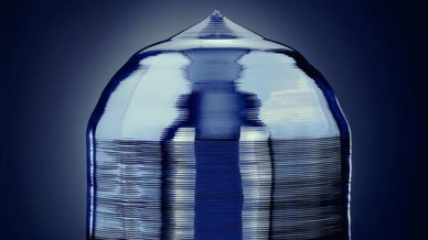 Abschmelzstelle eines Silizium-Einkristallstabs aus Zonenschmelzverfahren