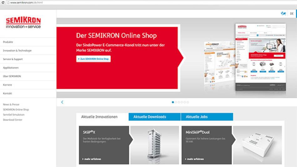 Die neue Internetseite von Semikron präsentiert sich im responsive Design.