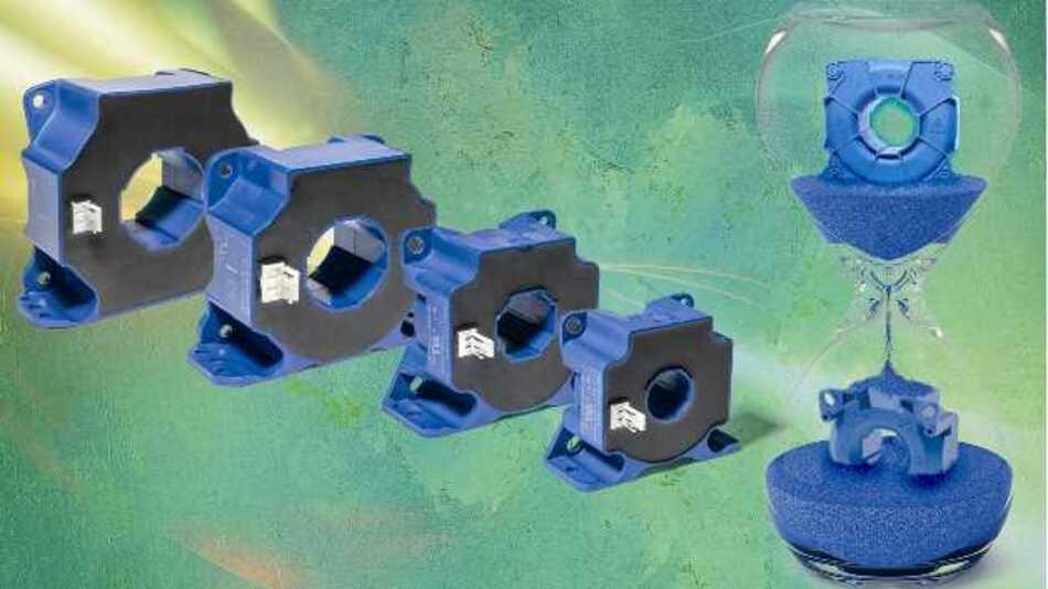Die ASIC-basierten Hall-Effekt-Stromwandler mit geschlossenem Regelkreis messen Ströme von 100 bis 2000 A DC, AC oder Pulsströme