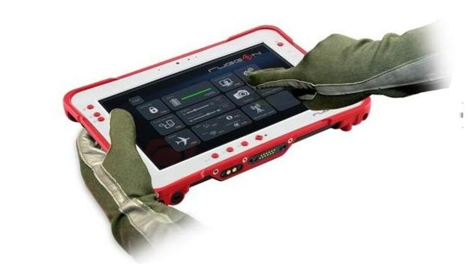 Mit Handschuhen bedienbar ist RuggONs robuster Tablet-PC.