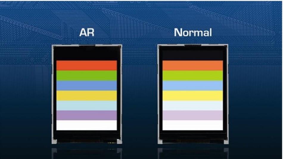 Störende Spiegelungen dämpfen die AR-Polfilter auf Densitrons TFT-Displays.