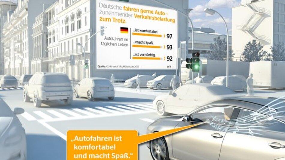 97 Prozent der Befragten empfinden Autofahren als komfortabel, 93 Prozent macht es Spaß.