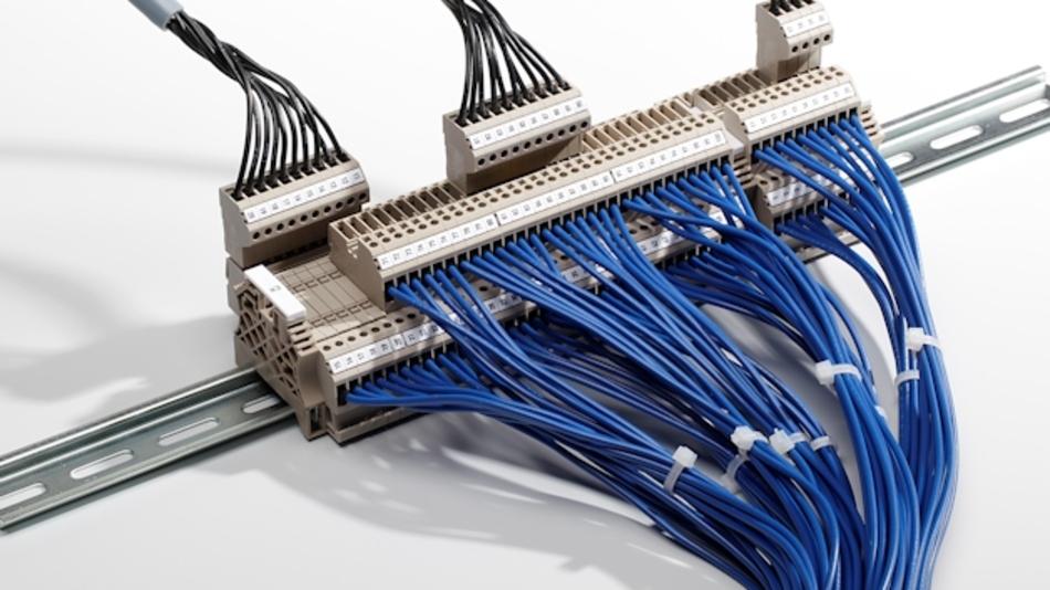 Das Reihenklemmensystem WDT 2.5 sorgt mit seiner integrierten Schaltschrankreserve für hohe Flexibilität