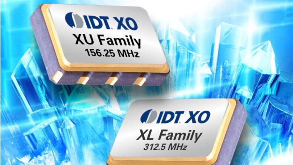 Im Frequenzbereich von 12 kHz bis 20 MHz haben IDTs Quarzoszillatoren der XU- und XL-Serie einen niedrigen Jitter von 300 fs.