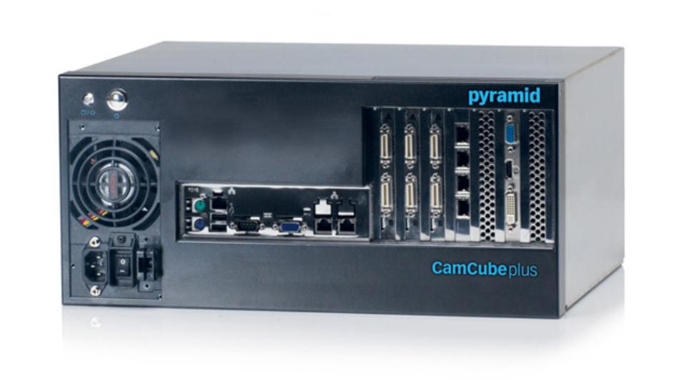 Der Industrie-PC »CamCube plus SiSo« von Pyramid Computer kann problemlos mit High-End-Framegrabbern des Herstellers Silicon Software umgehen.