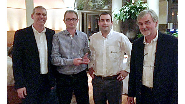 (v.l.n.r.): Dermot Flynn, Director of Sales Europe & Asia (Excelsys), Don Schriek, Product Marketing Manager Power (Avnet Abacus), Conor Duffy, European Sales Manager (Excelsys) & Gary Duffy, CEO (Excelsys)