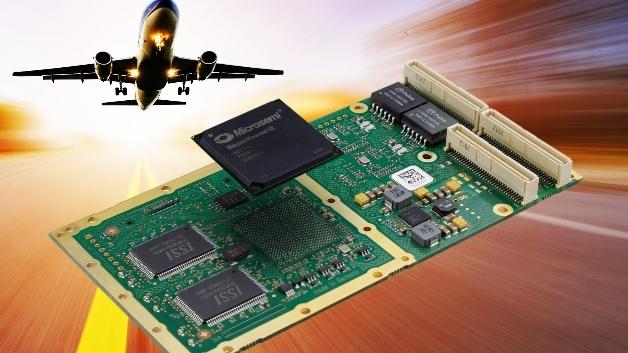 Das PMC-Modul P522 mit dem FPGA-Chip CS1 bietet die Möglichkeit, AFDX-basierte Kommunikationssysteme im Flugzeug unabhängig vom Formfaktor aufzubauen.