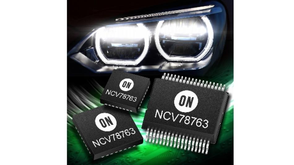Der NCV78763 ist ein Single-Chip-LED-Treiber, der auch neue dynamische Lichttechniken wie »Pixel-Licht« und »Matrix Beam« unterstützt.