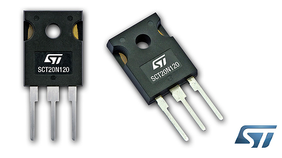 STMicroelectronics erweitert sein Produktportfolio um die 1200-V-SiC-MOSFETs SCT20N120.