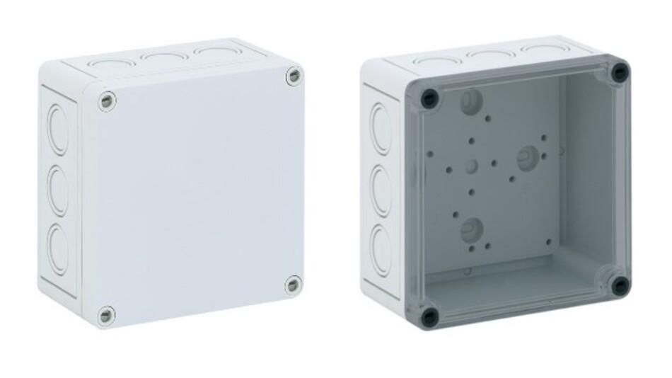 Variantenreich ist Conta-Clips Portfolio an Klemmenkästen mit den Materialien ABS oder Polycarbonat.