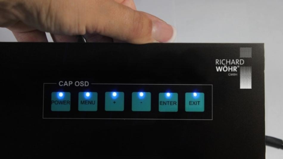 Das kapazitive Eingabesystem »CAPSOD« eignet sich besonders zur Bedienung von OSD-Menüs (On Screen Display) in Industriedisplays und Touchscreens.