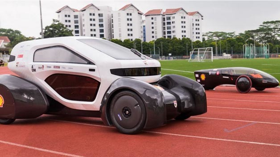 Die Elektrofahrzeuge NTU Venture 8 und NTU Venture 9 sind im 3D-Drucker entstanden.