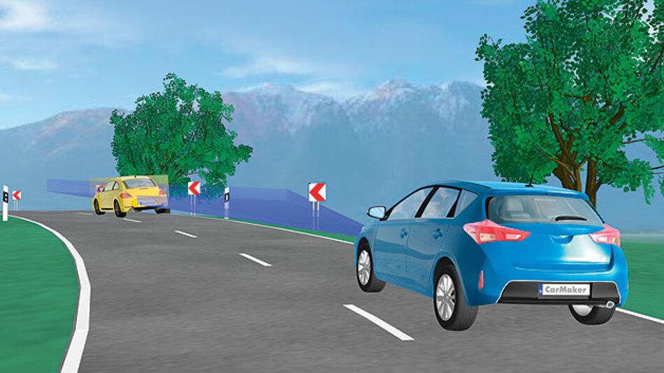 Simulationsumgebung für virtuelle Testfahrten