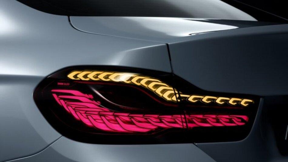 Die Heckleuchten des BMW M4 Concept Iconic Lights werden mit OLEDs von Osram ausgeführt.