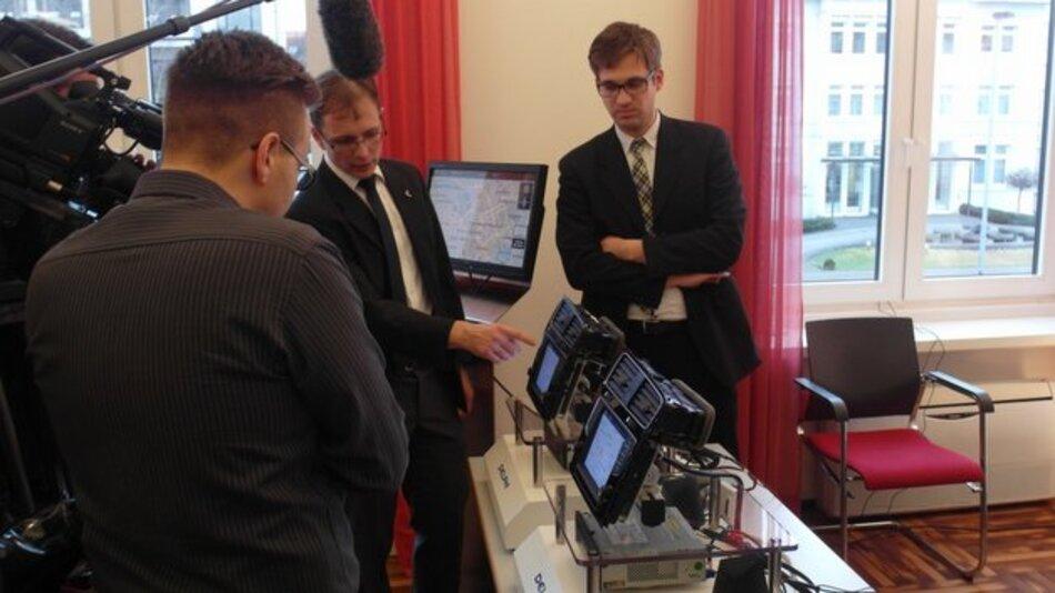 Experten von Delphi präsentierten das neue Navigationssystem in Hannover.