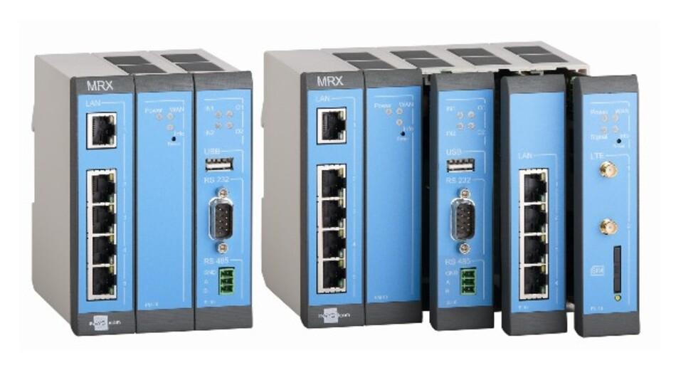 Komplett modular aufgebaut sind die Router der Serie MRX von Insys icom.