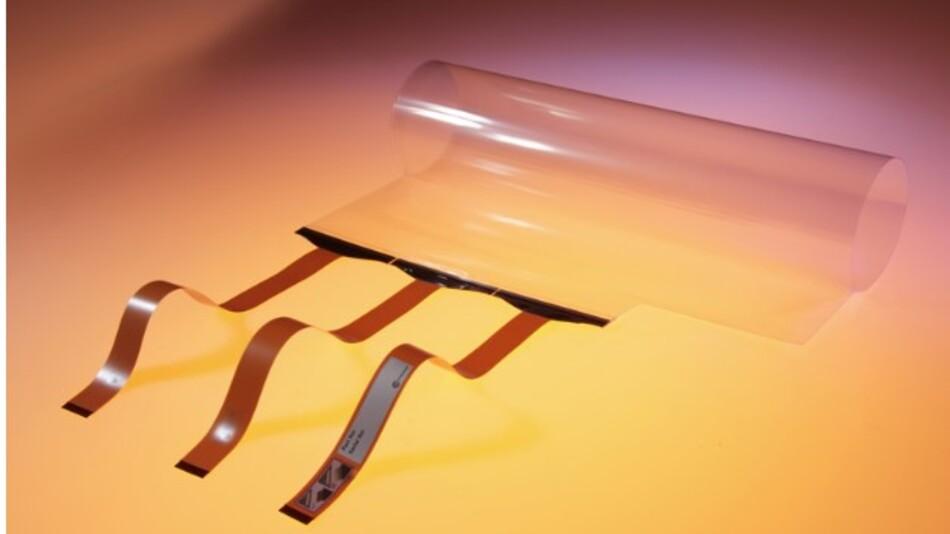 ZYFILM heißt Zytronics biegsame Multitouch-Folie für Displays mit Diagonalen von bis zu 85 Zoll.
