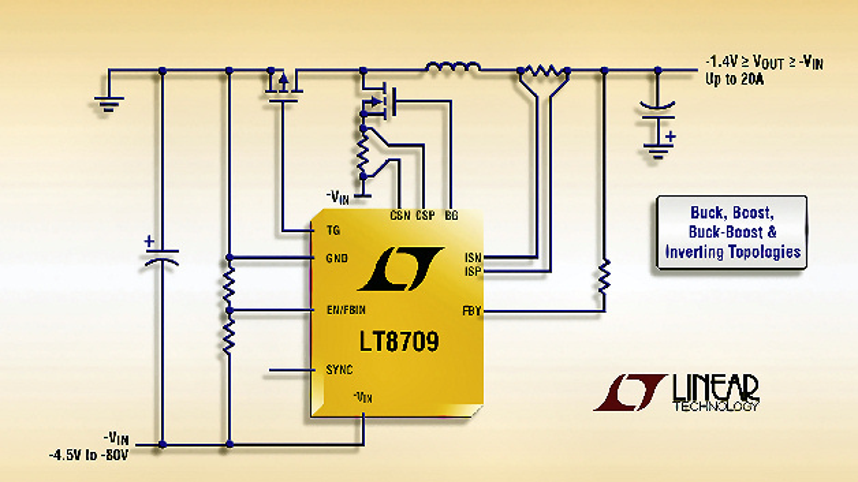 LT8709: Multitopologie-Synchron-DC/DC-Controller