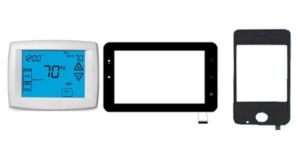 Mit Handschuhen bedienbar ist das von MEV distribuierte 5-Finger-PCAP-Multi-Touch-Panel von Orient-Display.