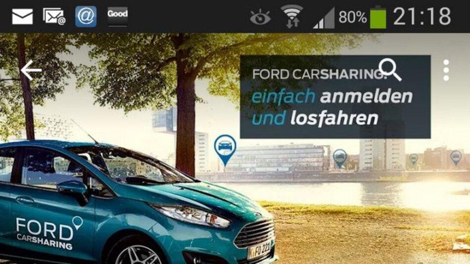 Ein Fingerdruck und das Auto geht auf: Ford erweitert seine Carsharing-App.