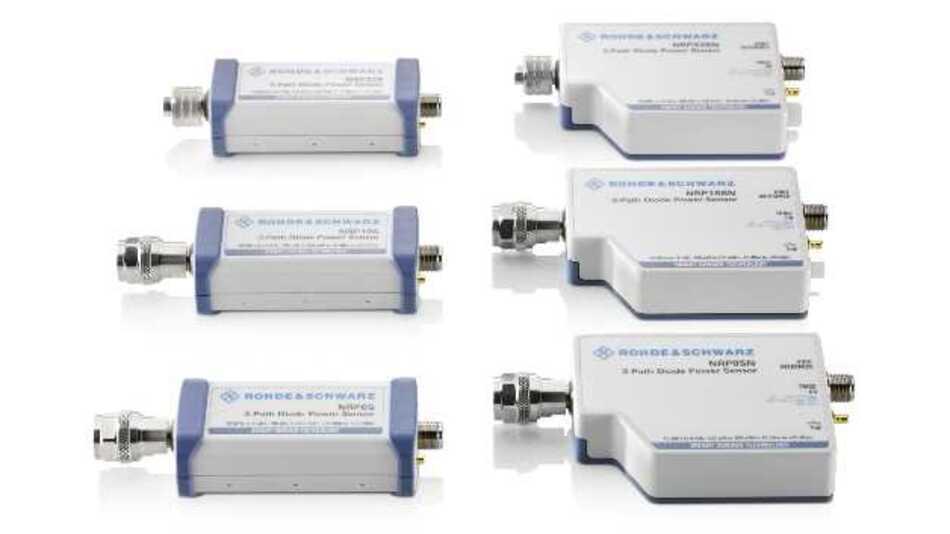 Die neuen USB-fähigen Dreipfad-Diodensensoren R&S NRP8S, R&S NRP18S und R&S NRP33S sowie die USB- und LAN-fähigen Diodensensoren R&S NRP8SN, R&S NRP18SN und R&S NRP33SN sind ab sofort bei Rohde & Schwarz erhältlich