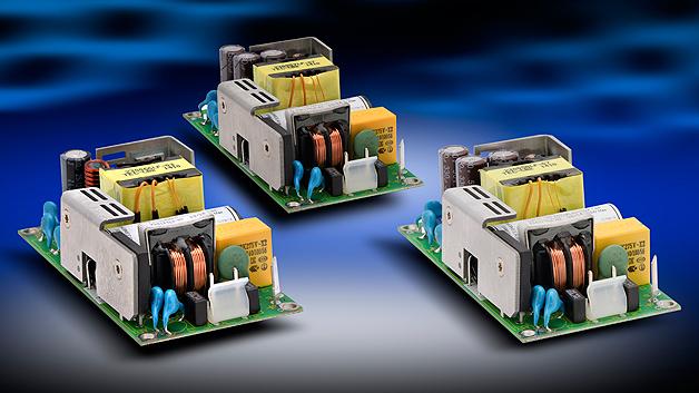 Die Lebensdauer von Netzgeräten hängt u.a. von den verwendeten Komponenten ab. Besonders wichtig für eine lange Lebenszeit und auch die Leistungsfähigkeit der Geräte sind die Elektrolyt-Kondensatoren. TDK-Lambda verwendet in der ZM-Reihe sogenannten Long-Life-Elkos, welche eine Lebensdauer von bis zu 10 Jahren aufweisen. Des Weiteren wurde die Restwelligkeit in den Ausgangskondensatoren minimiert und für den Starkondensator als Material langlebige Keramik verwendet. Mit dem konvektionsgekühlten Netzgerät zielt das Unternehmen zwar hauptsächlich auf Medizinanwendungen, doch dürfte es aufgrund seiner Eigenschaften auch für Rundfunk sowie professionelle Audioanwendungen, denn auch hier sind störende Zusatzgeräusche unerwünscht. Als einen Vertreter der ZM-Reihe zeigt TDK Lambda das ZMS100 mit einer Ausgangsleistung bis zu 100 W. Mit einer Ein-/Ausgangs-Isolationsspannung 4 kV AC und 2 × MOPP entspricht das Netzteil der 3. Ausgabe der Medizin-Norm IEC 60601-1. Die Isolationsspannung zwischen Eingang und Masse sowie zwischen Ausgang und Masse beträgt jeweils 1,5 kV AC bei 1 × MOPP. Das ZMS100 misst 2 × 4 Zoll und eignet sich mit einem Berührungsstrom von unter 100 µA für Schutzklasse-I- sowie Schutzklasse-II-Anwendungen entsprechend den Sicherheitsanforderungen für Krankenhäuser sowie weitere Medizinapplikationen (Home Care). Die Medizin-Netzgeräte haben einen Universaleingang und bieten Ausgangsspannungen von 12, 15, 24, 36 oder 48 V. Diese sind jeweils um –5 %/+10 % einstellbar. Bei einer Umgebungstemperatur von bis zu 50 °C liefern die Netzteile bei Konvektionskühlung 80 W Ausgangsleistung bzw. 100 W bei einem geringen Luftstrom. Ihr nominaler Wirkungsgrad liegt bei 90 %, und mit <0,5 W Leistungsaufnahme im Leerlauf und einem durchschnittlichen Wirkungsgrad im Betrieb von über 87 % erfüllen sie die Anforderungen der ErP-Richtlinie. TDK-Lambda Germany GmbH: Halle 5, Stand 211
